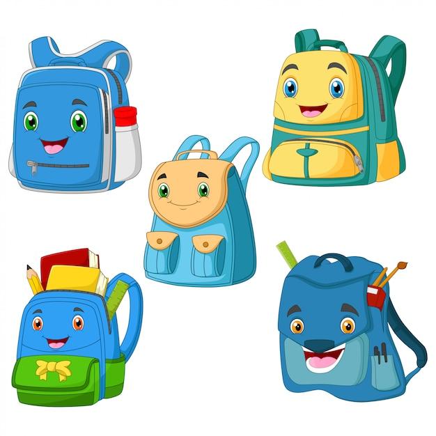 コレクション漫画bagschool笑顔 Premiumベクター
