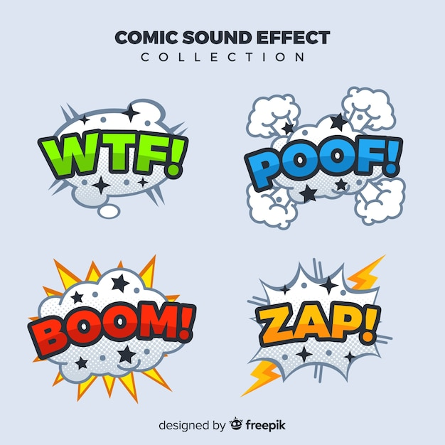 Collection of comic sound effects Vector   Free Download