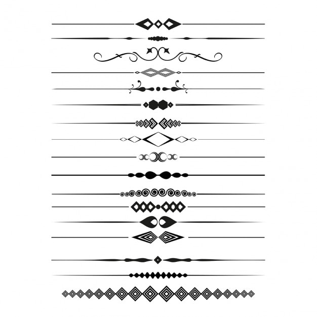 Collection of decorative page dividers Free Vector