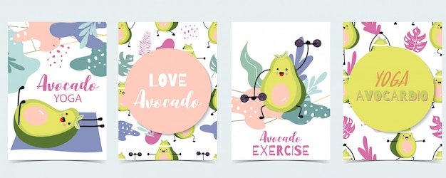 Collection of exercise Premium Vector