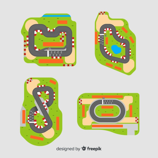 Collection of f1 racing tracks Vector | Free Download