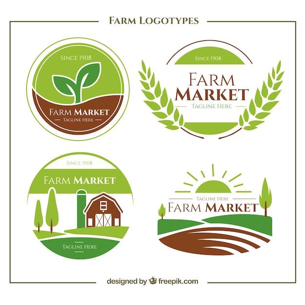 Collection Of Green Farm Logo Vector