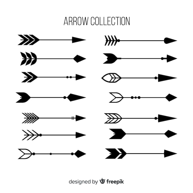 Collection of hand drawn arrows Free Vector