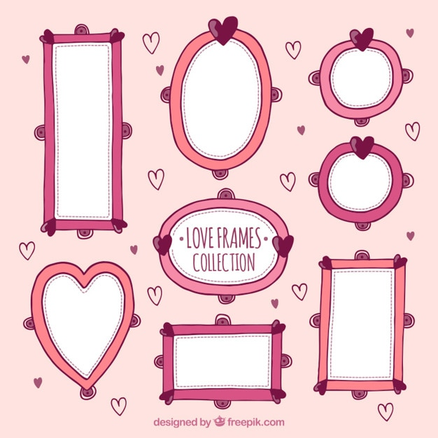 02e4143623c Collection of hand drawn vintage frame Free Vector