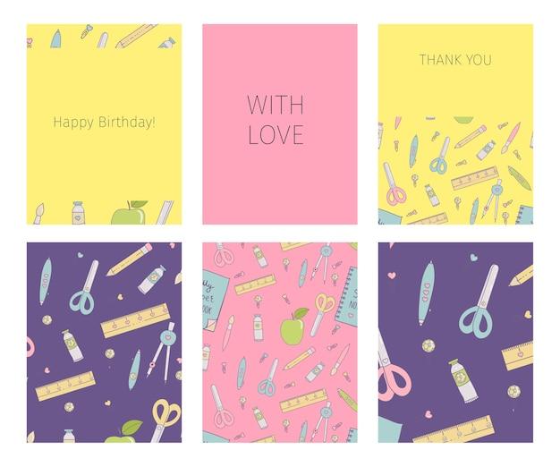 Collection of happy birthday Premium Vector