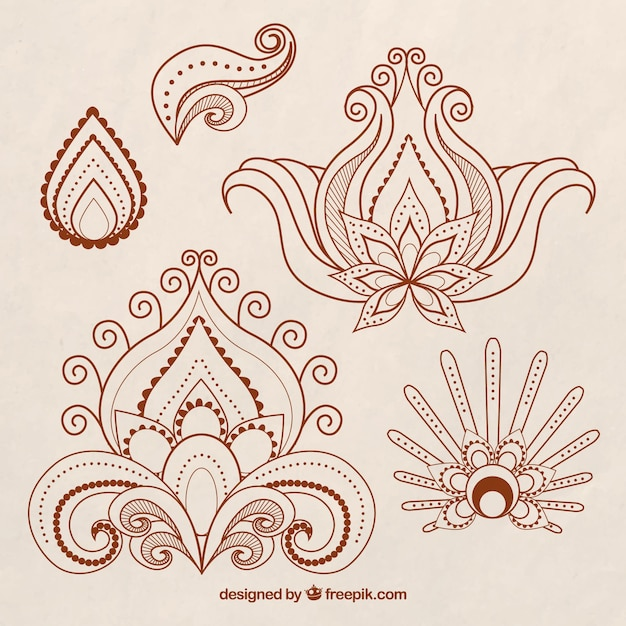 Mehndi Hand Vector Free Download : Henna art vectors photos and psd files free download
