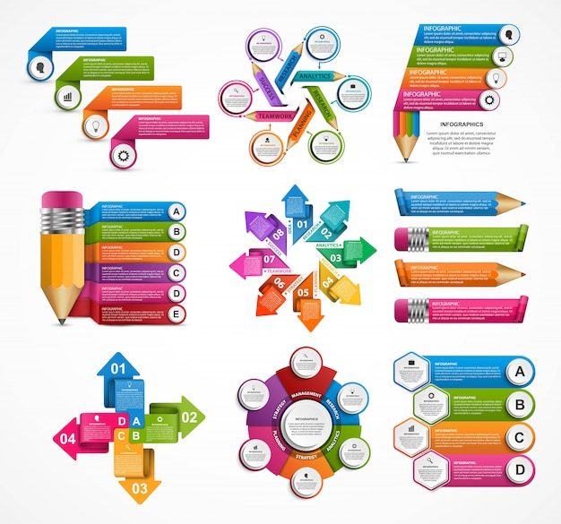 Collection infographics. design elements. Premium Vector