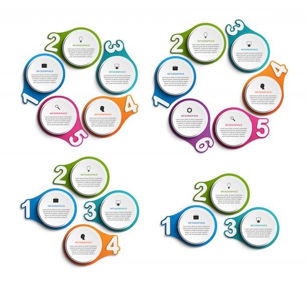 Collection infographics. Premium Vector