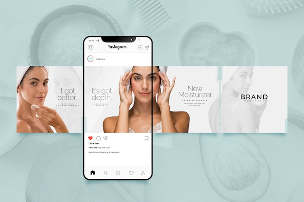 Collection of instagram carousel templates Free Vector