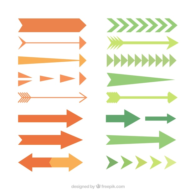 Collection Kind Of Arrow In Flat Design Vector Free Download