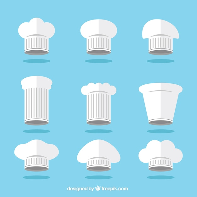 Collection Of Kitchen Hat In Flat Design Vector Free Download