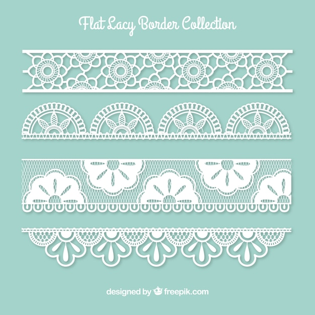 Collection of lace border Free Vector