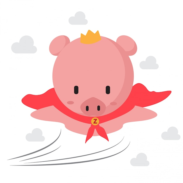 Collection of little piggy Premium Vector