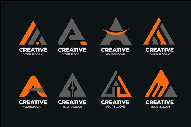 Collection of a logo templates Free Vector
