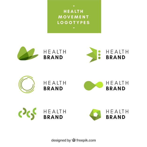 Collection of logos for health industry Free Vector