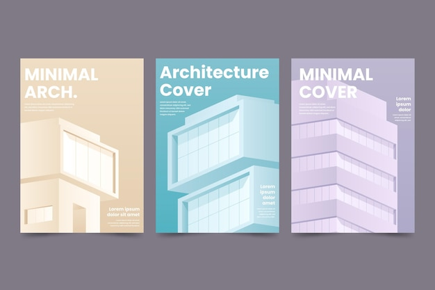 Collezione di copertine di architettura minimale Vettore gratuito