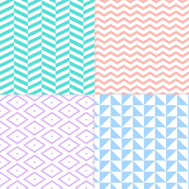 Collection of minimal geometric pattern Free Vector