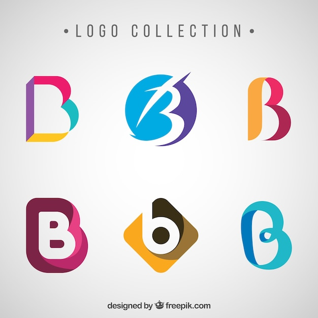 B&q Kitchen Tiles Ideas Part - 41: Collection Of Abstract Colored Logos With Letter B