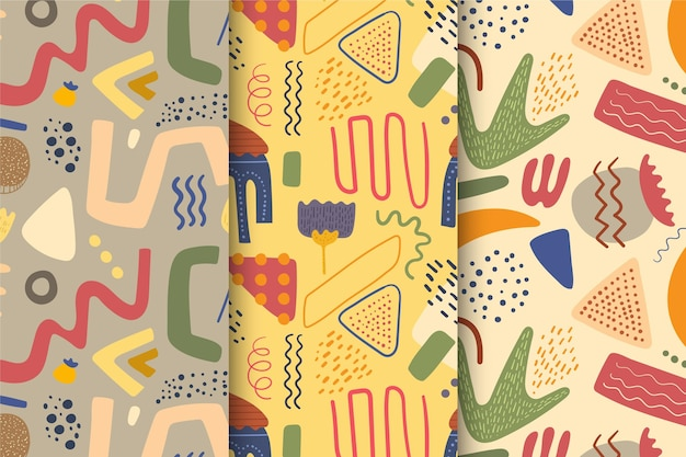 Коллекция абстрактных рисованной картины Бесплатные векторы