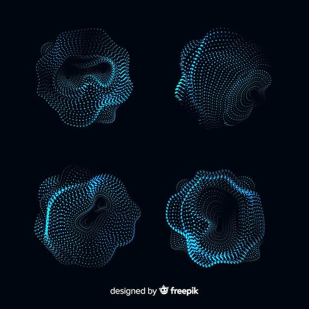 Коллекция абстрактной формы частиц Бесплатные векторы