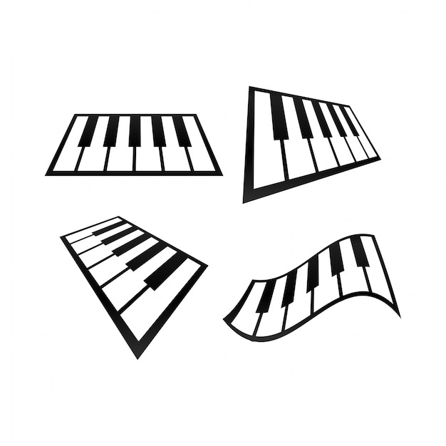 collection of abstract piano logo vector premium download