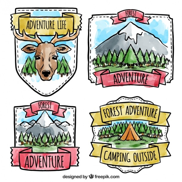 Collection of adventure badges
