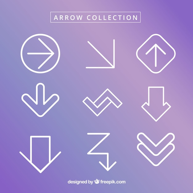 Collection of arrows