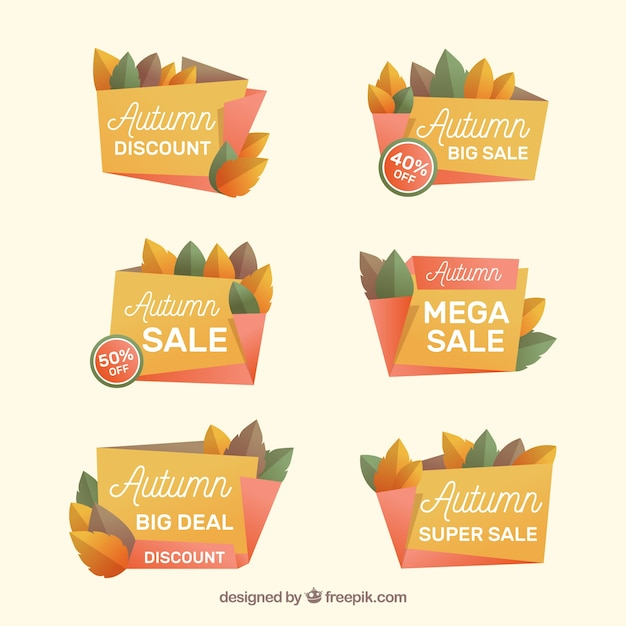 Collection of autumn sale sticker