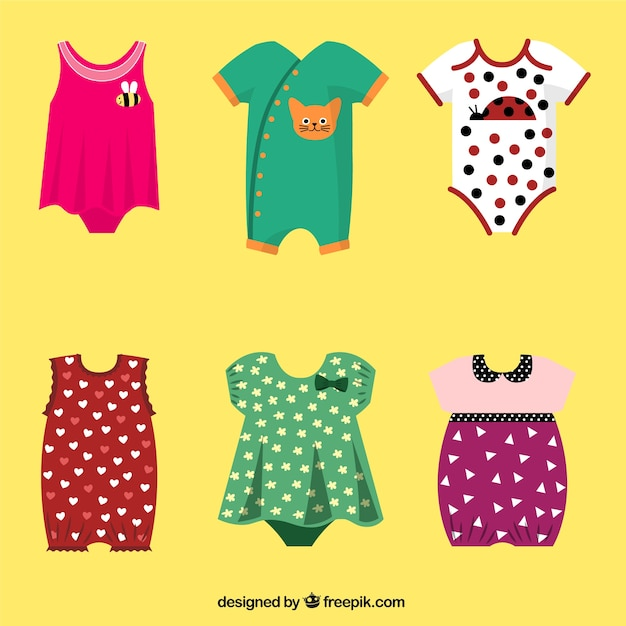Collection of baby clothes