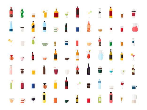 Сбор векторов напитков Бесплатные векторы