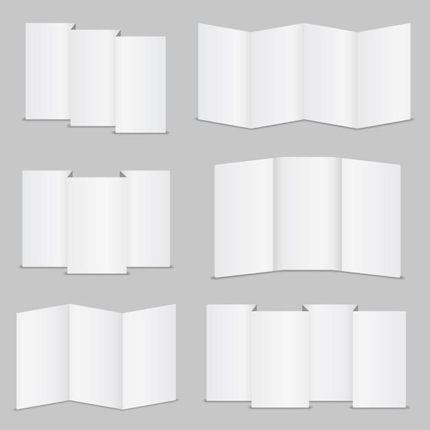 空白のパンフレットのコレクション Premiumベクター