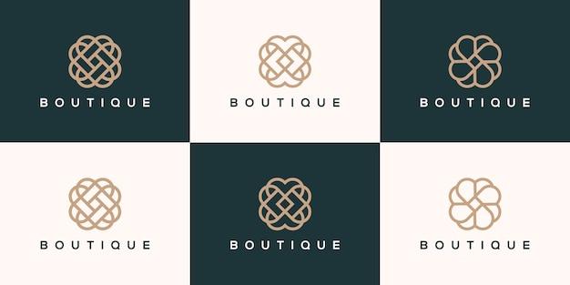 Коллекция логотипа бутика Premium векторы