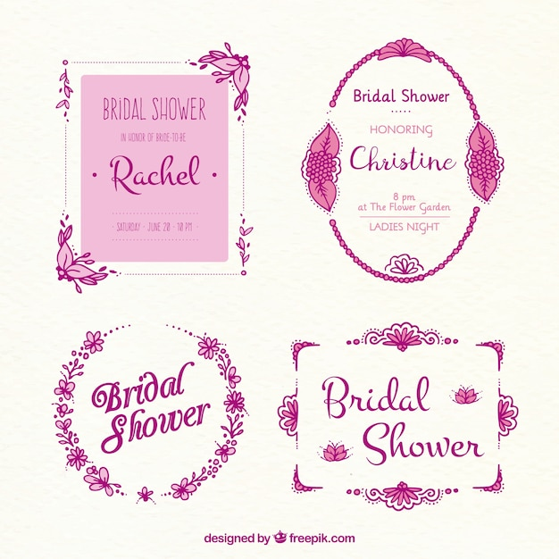 collection of bridal shower frames in pink tones stock images page everypixel