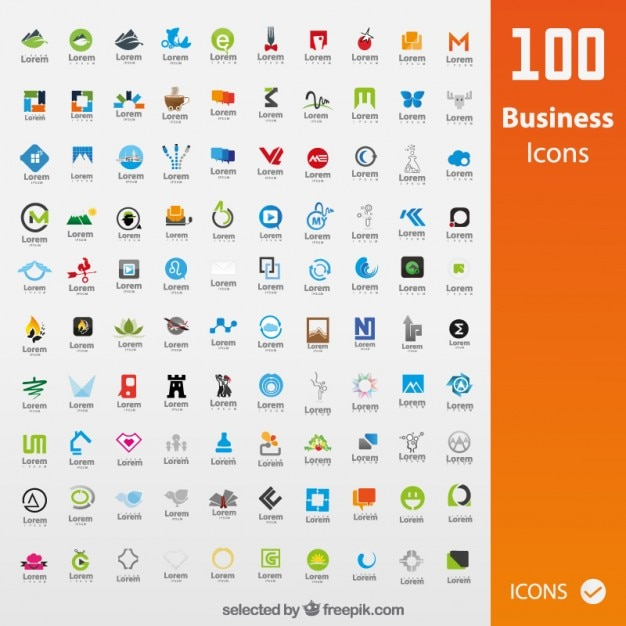 Collection of business icons Free Vector