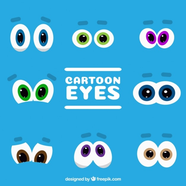 Cartoon Characters Eyes : Collection of cartoon characters eyes vector free download