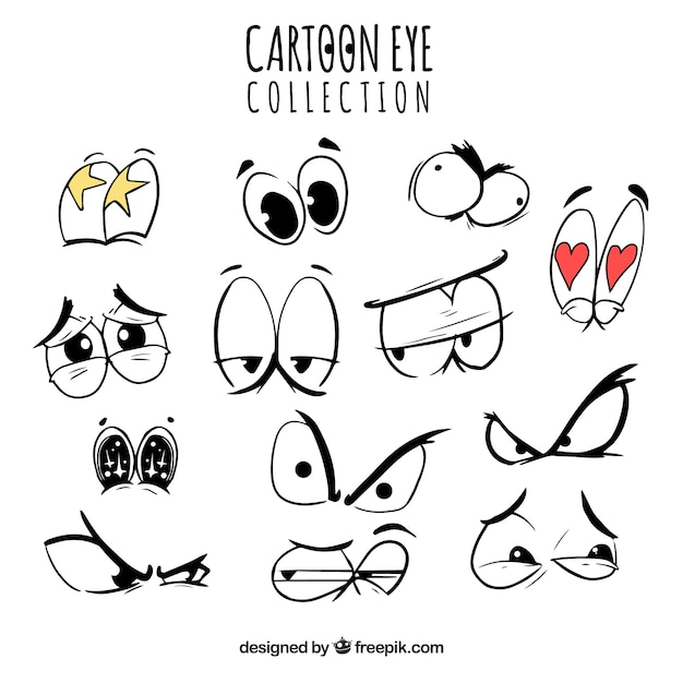 collection of cartoon eyes with funny expressions