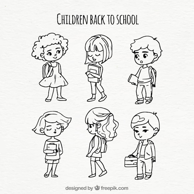 Collection of children returning to school