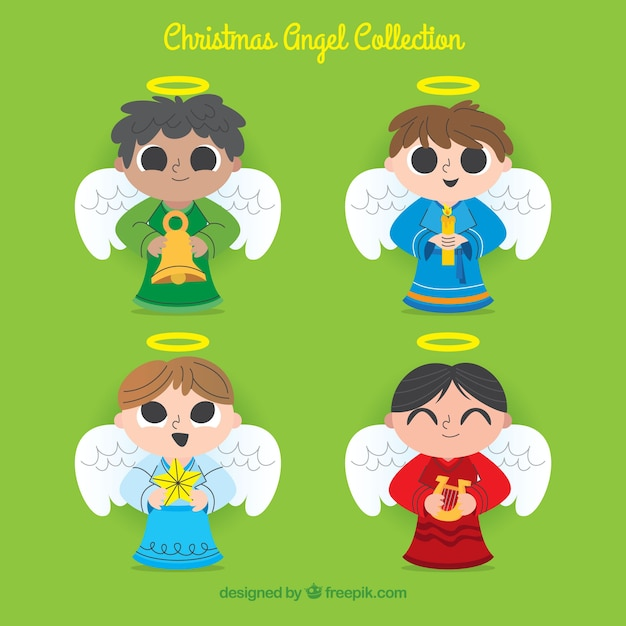 Collection of christmas angels boys