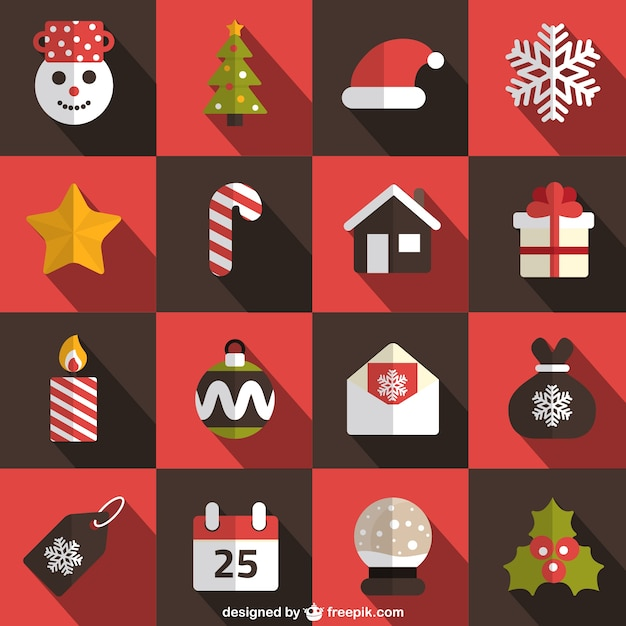 Collection Of Christmas Elements Vector Free Download