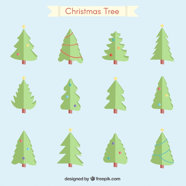 Christmas Tree Collection Trowbridge : Collection of christmas trees vector free download