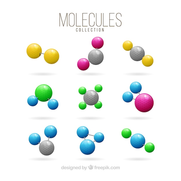 Collection of colored molecule