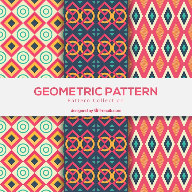 Collection of colorful pattern designs