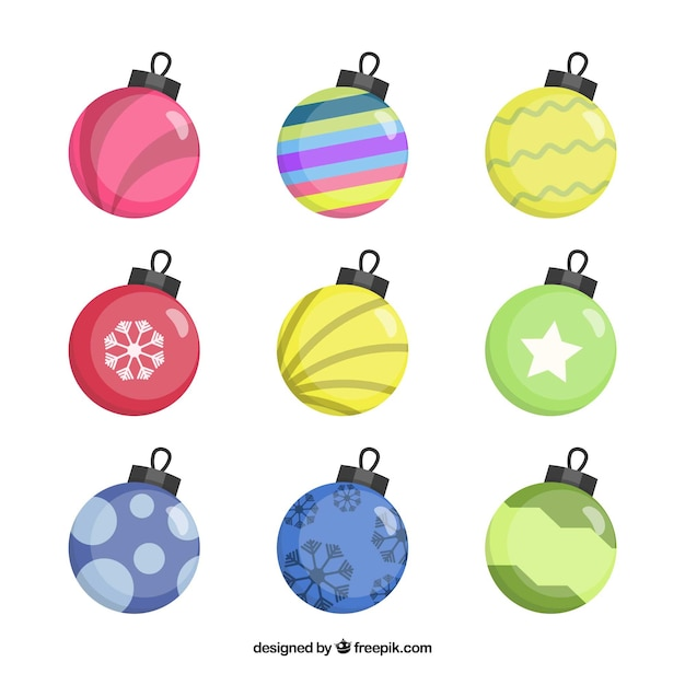 Collection of decorative christmas ball