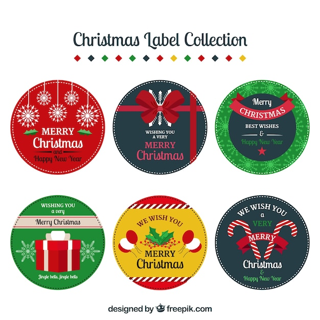 Collection of decorative christmas sticker