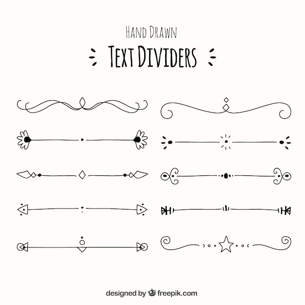 decorative line divider clipart