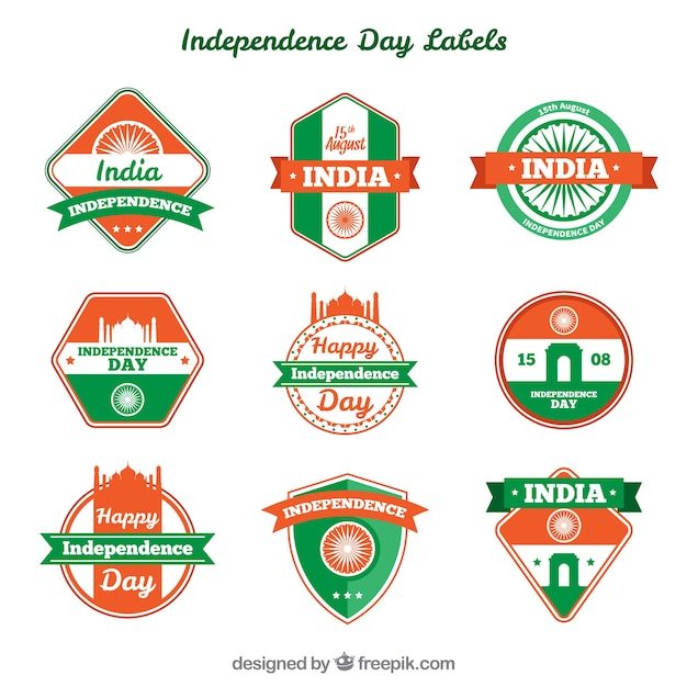 Collection of decorative insignia of the india independence