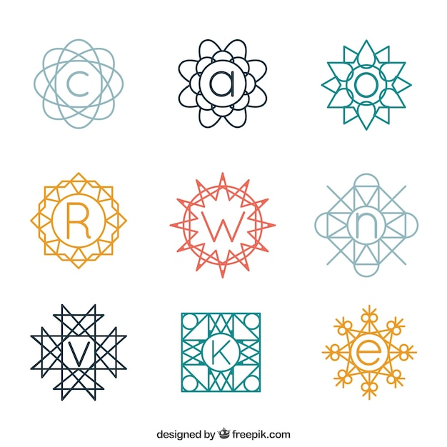 Collection of decorative monogram