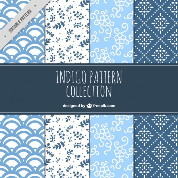Collection of decorative patterns in vintage style Free Vector