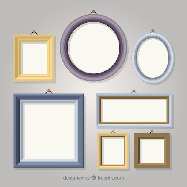 Download Vector - Collection of different vintage photo frames ...