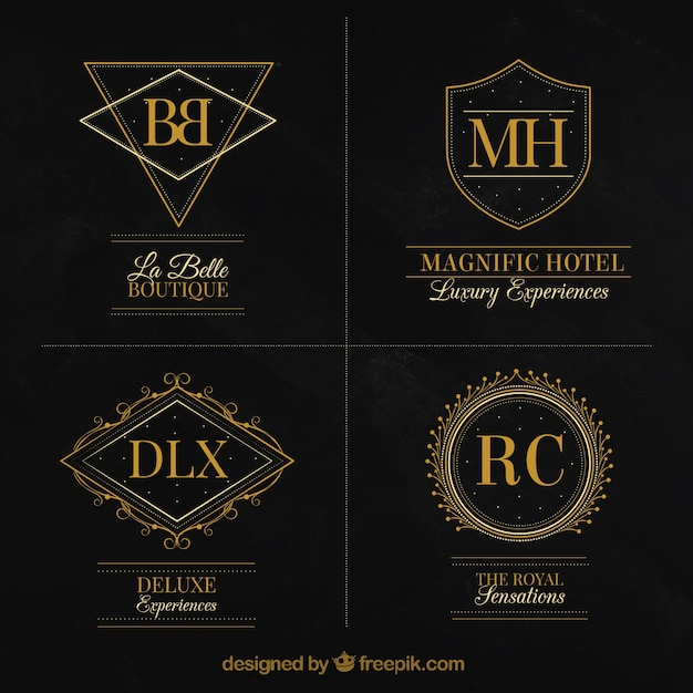 Très bien Extreme Collection of elegant luxury logos Vector | Free Download YM44